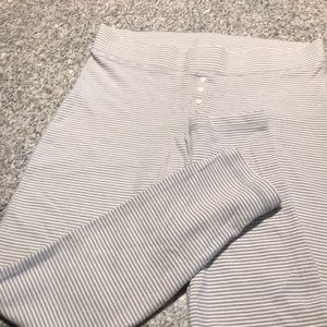 M aerie by American earl gray stripped pajama pant